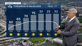 Windy evening ahead, upper 70's for Thursday