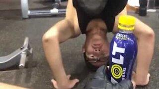 Bottle Cap Challenge meets calisthenics