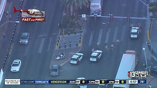 Crash on Las Vegas Boulevard near Mirage