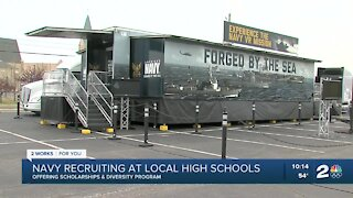 Navy Recruiting at Local High Schools