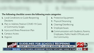 State Superintendent releases guidelines for reopening schools