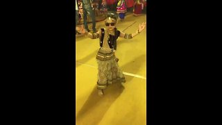 Little girl shows off amazing Indian dance moves