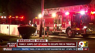 FD: Trenton family jumps out of bedroom window to escape house fire
