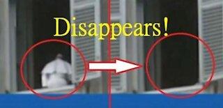 Pope Francis disappears! 教宗方濟各竟瞬間消失!全像投影?