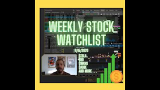 Weekly Watch List with vWAP Analysis (11/15/2020)