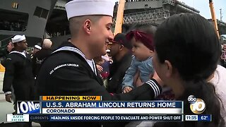 USS Abraham Lincoln returns home