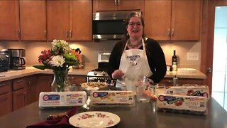 Eggland's Best Eggs Recipe for savory Greek quiche