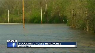 Storm moves away from Oak Creek, flooding remains