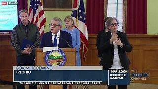 Gov. DeWine gives coronavirus update, new executive orders