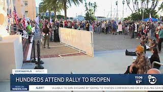 Hundreds attend rally to reopen
