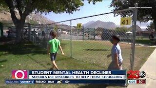 Student mental health declines