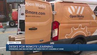 Desks delivered for remote learning