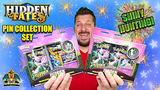 Hidden Fates Pin Collection Set #4 | Shiny Hunting | Pokemon Cards Opening