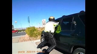 UPDATE: Newly-released video shows sheriff's deputy knocked down by vehicle during chase in Pahrump