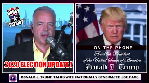 TRUMP GIVES UPDATE ON ARIZONA AND OTHER AUDITS ON THE JOE PAGS SHOW !