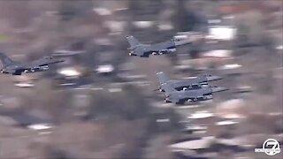Colorado Air National Guard flyover in Loveland