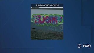 Buildings being tagged in Punta Gorda