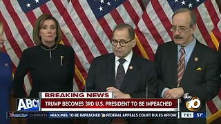 President Trump becomes third president to be impeached