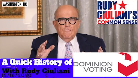 Rudy Giuliani - A Quick History of Dominion, Sequoia, and Smartmatic - 12/18/2020