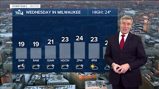 Wednesday morning is sunny but the chilly temps stick around