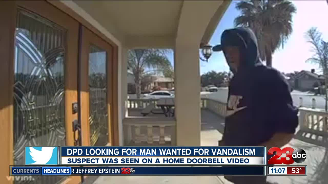 Delano Police Department Looking for Man Waned for Vandalism