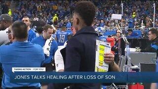 Lions WR Marvin Jones Jr. talks healing process after death of infant son