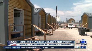 Globeville neighborhood to meet about Tiny Home Village