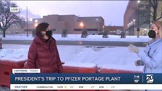 Portage mayor speaks ahead of Biden's visit to Pfizer plant