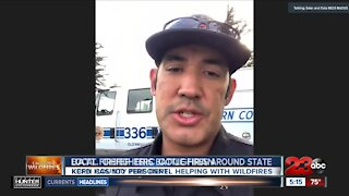 Kern County Firefighters battling the blaze across the State