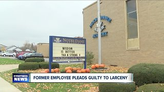 Former employee pleads guilty to larceny