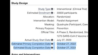 COVID Vaccines PATENTED and testing on humans until October 27, 2022!