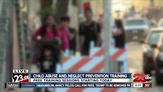 Prevention Services Facilitator discusses child abuse prevention training