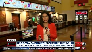 Local movie theaters set to reopen