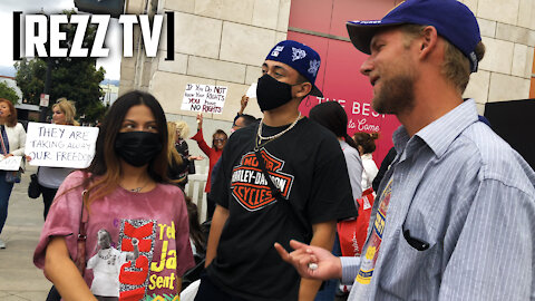 Tensions Flare At Masks Don't Work Protest In Glendale, CA