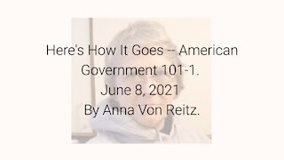 Here's How It Goes -- American Government 101-1 June 8, 2021 By Anna Von Reitz