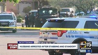 Husband arrested after stabbing wife in Scottsdale