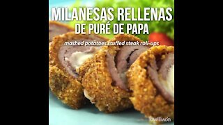 Milanesas Stuffed with Mashed Potatoes