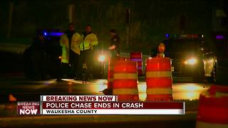 Police chase ends in Brookfield crash