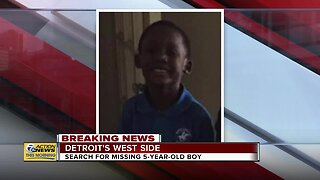Search for missing 5-year-old on Detroit's west side