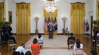President Biden Blames Trump Admin. For Border Facility Crowding
