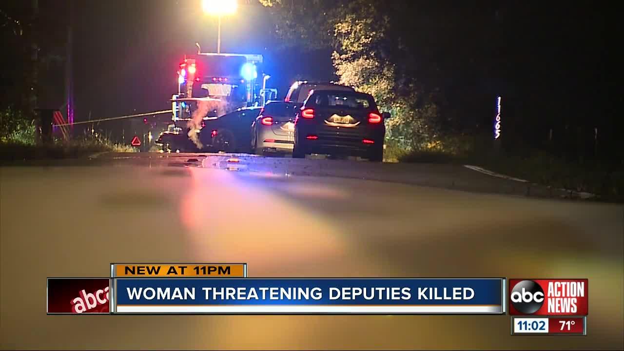 Woman threatening deputies killed