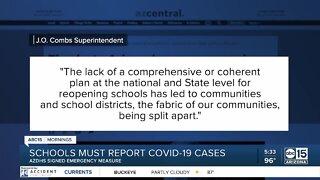 Schools must report COVID-19 cases