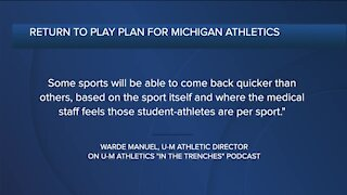 Michigan AD Warde Manuel discusses return to play plans