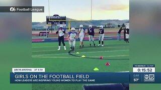 Girls on the football field