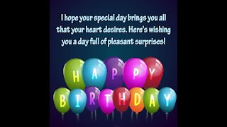 Happy birthday message [GMG Originals]