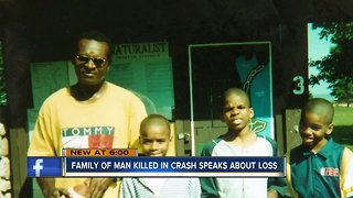 Family of man killed in crash speaks about loss