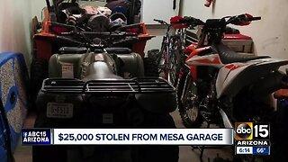 $25,000 worth of items stolen from Mesa garage