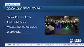 Galactic Open Air Market downtown event