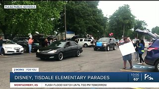 Disney, Tisdale elementary schools held car parades for students