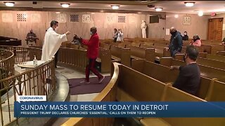 In-Person Mass Resumes in Detroit